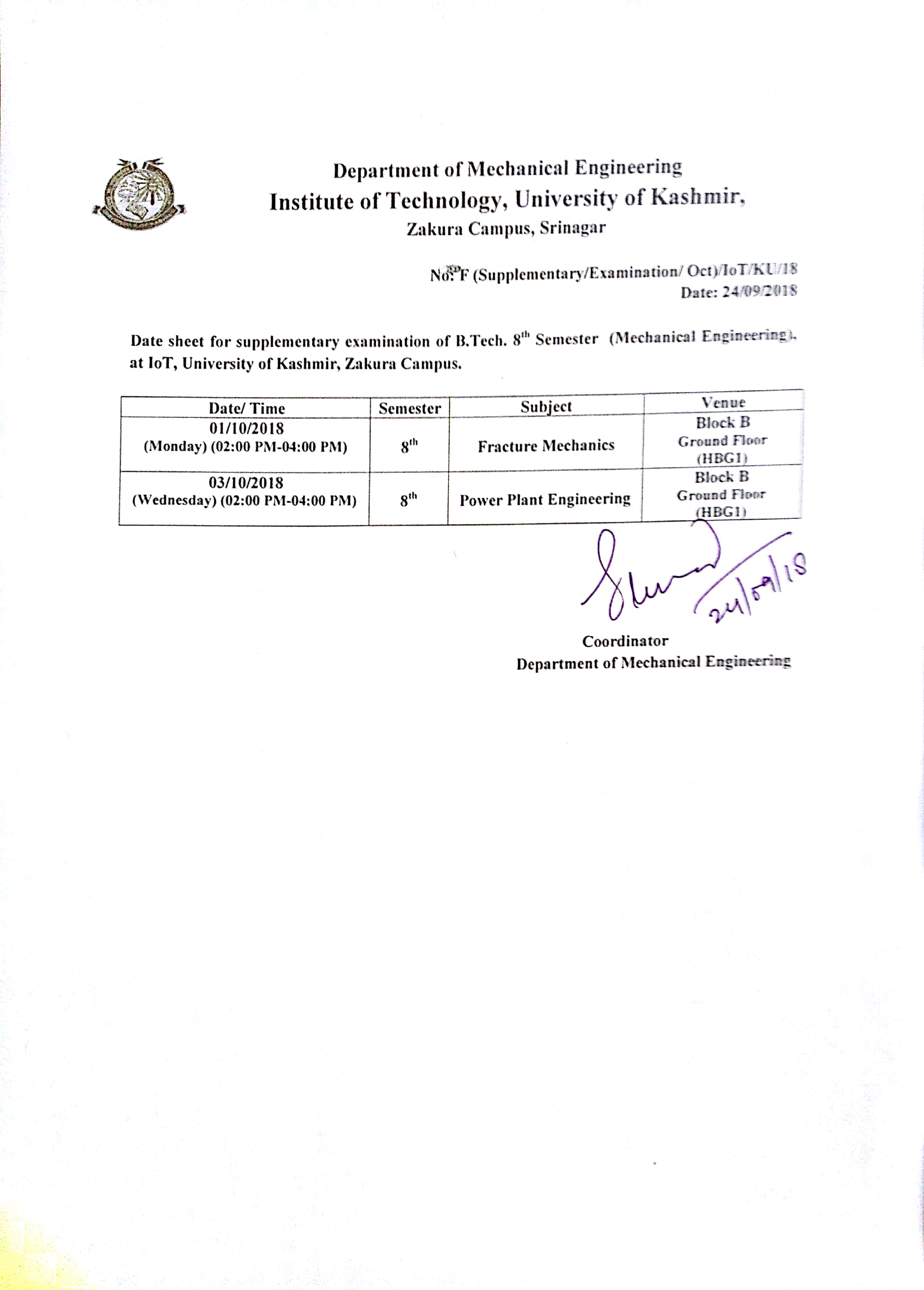 Institute Of Technology University Of Kashmir